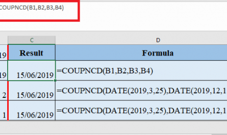 COUPNCD Function in Excel 445x265 - How to use COUPNCD Function in Excel