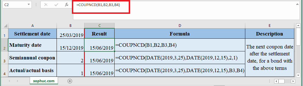 COUPNCD Function in Excel - How to use COUPNCD Function in Excel