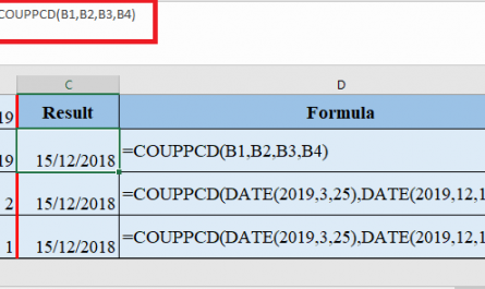 COUPPCD Function in Excel 445x265 - How to use COUPPCD Function in Excel