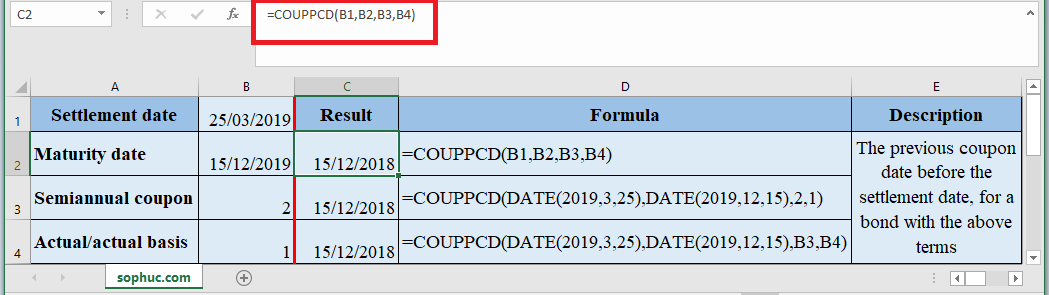 COUPPCD Function in Excel - How to use COUPPCD Function in Excel
