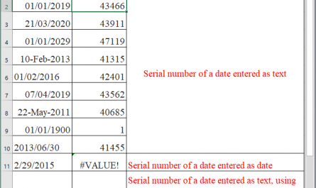 Excel DATEVALUE function 1 445x265 - How to use the Excel DATEVALUE function