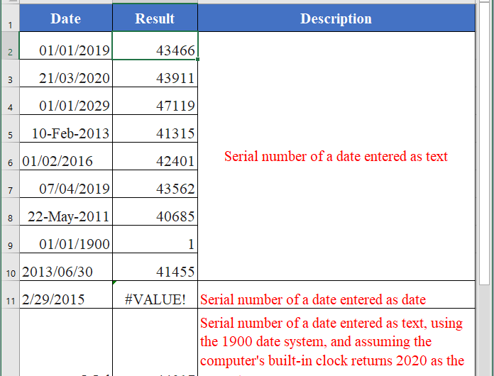 How to use the Excel DATEVALUE function