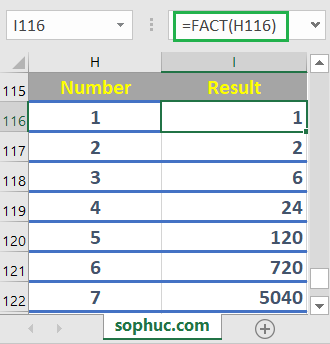 How to use the Excel FACT function