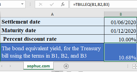 Excel TBILLEQ function 445x235 - How to use the Excel TBILLEQ function