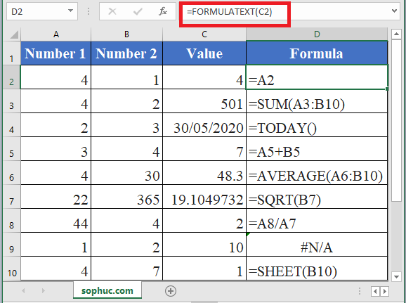 How to use FORMULATEXT Function in Excel
