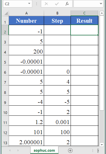 GESTEP Function - How to use GESTEP Function in Excel