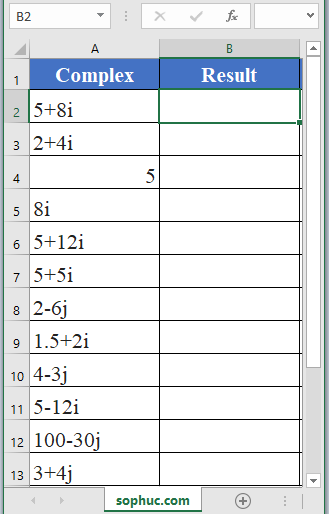 IMABS Function in Excel 2 - How to use IMABS Function in Excel
