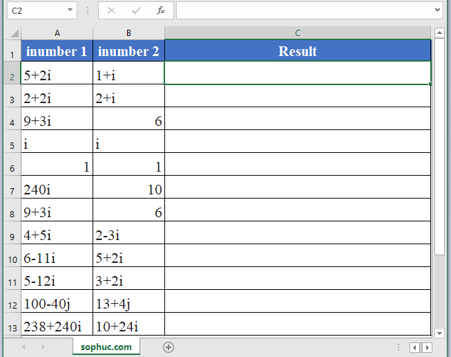 IMDIV Function in Excel 2 - How to use IMDIV Function in Excel