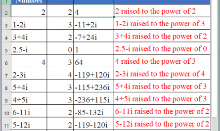 IMPOWER Function in Excel 1 445x265 - How to use IMPOWER Function in Excel