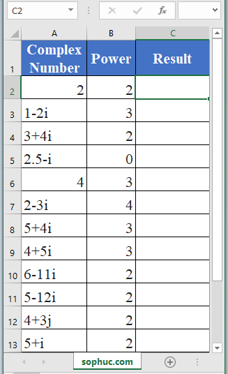 IMPOWER Function in Excel 2 - How to use IMPOWER Function in Excel