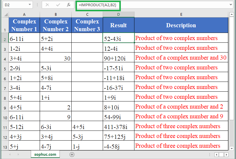 IMPRODUCT Function - How to use IMPRODUCT Function in Excel