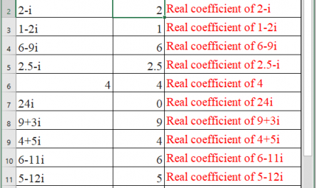 IMREAL Function in Excel 445x265 - How to use IMREAL Function in Excel