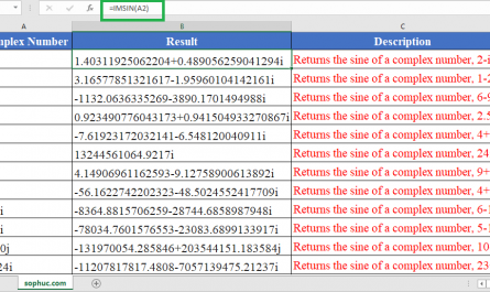 IMSIN Function in Excel 2 445x265 - How to use IMSIN Function in Excel