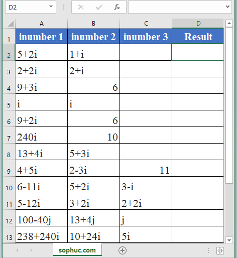 IMSUM Function - How to use IMSUM Function in Excel