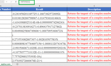IMTAN Function 445x265 - How to use IMTAN Function in Excel