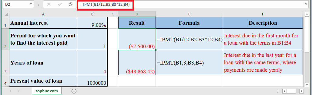 IPMT Function in Excel - How to use IPMT Function in Excel