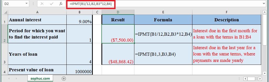 IPMT Function in Excel - How to use IPMT Function in Excel