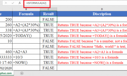 ISFORMULA Function in Excel 445x265 - How to use ISFORMULA Function in Excel