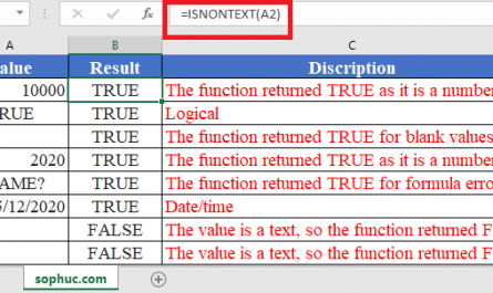ISNONTEXT Function in Excel 445x265 - How to use ISNONTEXT Function in Excel