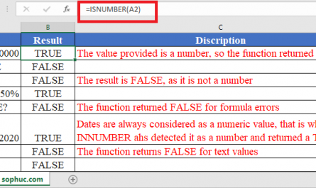 ISNUMBER Function in Excel 445x265 - How to use ISNUMBER Function in Excel