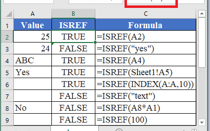 ISREF Function in Excel 1 425x265 - How to use ISREF Function in Excel