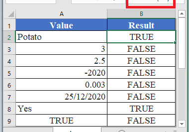 ISTEXT Function in Excel 380x265 - How to use ISTEXT Function in Excel