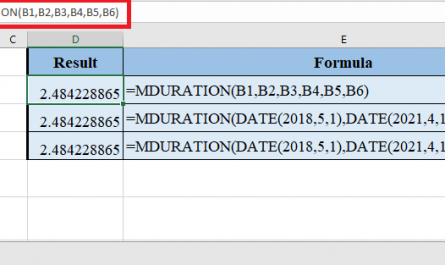 MDURATION Function in Excel 1 445x265 - How to use MDURATION Function in Excel