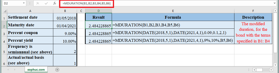 How to use MDURATION Function in Excel