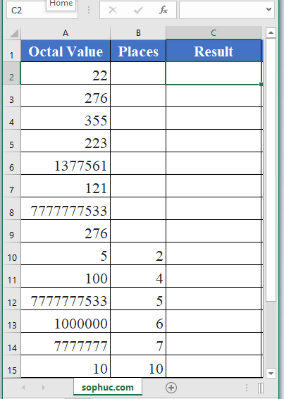 OCT2HEX Function - How to use OCT2HEX Function in Excel