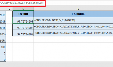 ODDLPRICE Function in Excel 445x265 - How to use ODDLPRICE Function in Excel