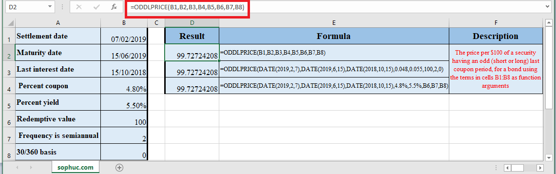 How to use ODDLPRICE Function in Excel