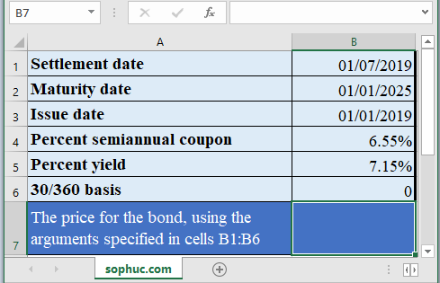 PRICEMAT Function 1 - How to use PRICEMAT Function in Excel