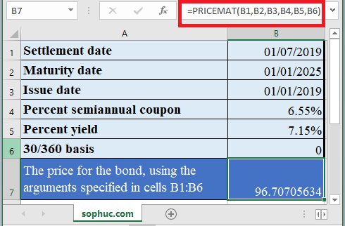 How to use PRICEMAT Function in Excel