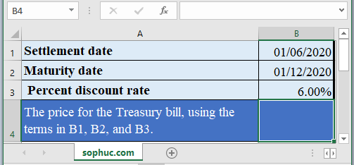 TBILLPRICE Function - How to use TBILLPRICE Function in Excel