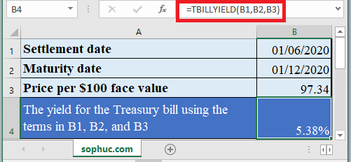 TBILLYIELD Function - How to use TBILLYIELD Function in Excel