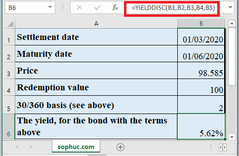 How to use YIELDDISC Function in Excel
