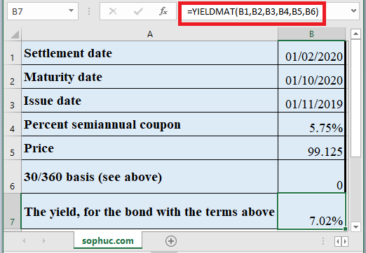 YIELDMAT Function in Excel - How to use YIELDMAT Function in Excel