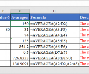 How to use AVERAGEA Function in Excel