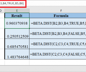 How to use BETA.DIST Function in Excel