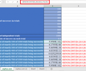 How to use BINOM.DIST Function in Excel