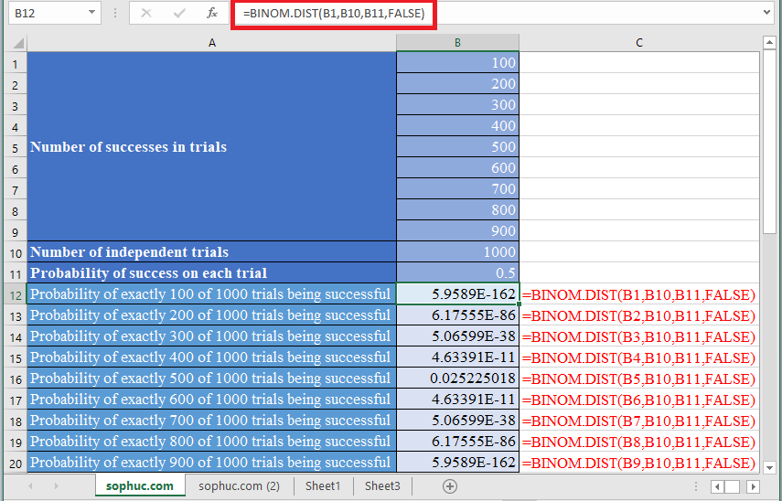 BINOM.DIST Function 2 - How to use BINOM.DIST Function in Excel