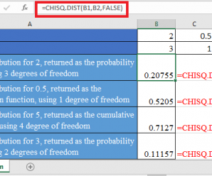 How to use CHISQ.DIST Function in Excel