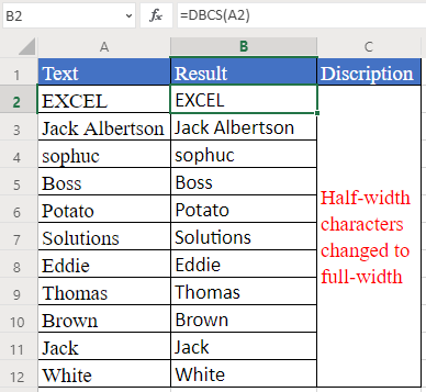 DBCS Function in Excel - How to use DBCS Function in Excel