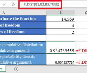 How to use F.DIST Function in Excel
