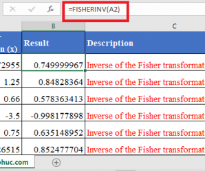 How to use FISHERINV Function in Excel