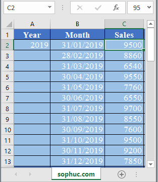 FORECAST.ETS .STAT Function in Excel 1 - How to use FORECAST.ETS.STAT Function in Excel