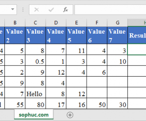 How to use GEOMEAN Function in Excel