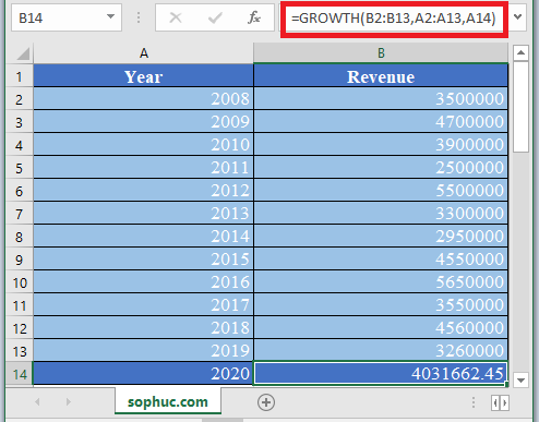 GROWTH Function in Excel - How to use GROWTH Function in Excel