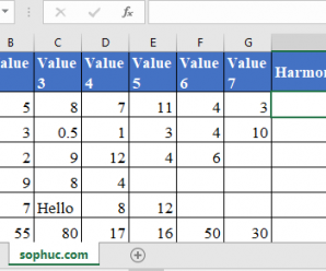 How to use HARMEAN Function in Excel