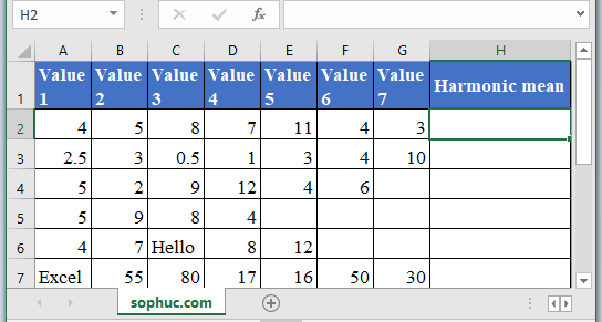 HARMEAN Function - How to use HARMEAN Function in Excel